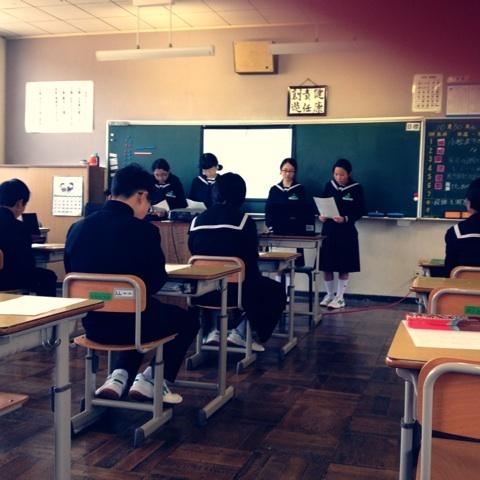 母校・宇和海中学にて(*^^*) 高...